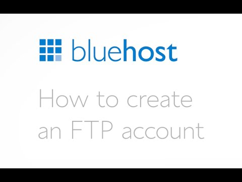 How to create an FTP account