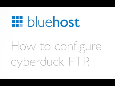 How to use Cyberduck FTP.