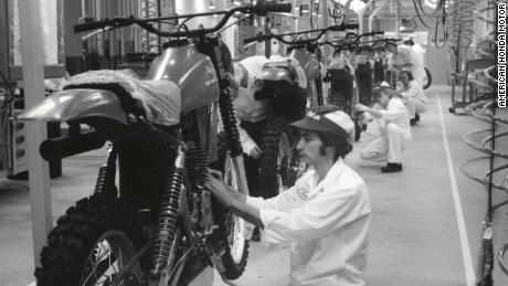 Production began at Honda's Marysville plant on September 10, 1979. The CR250R motorcross bike was the first model to be built.