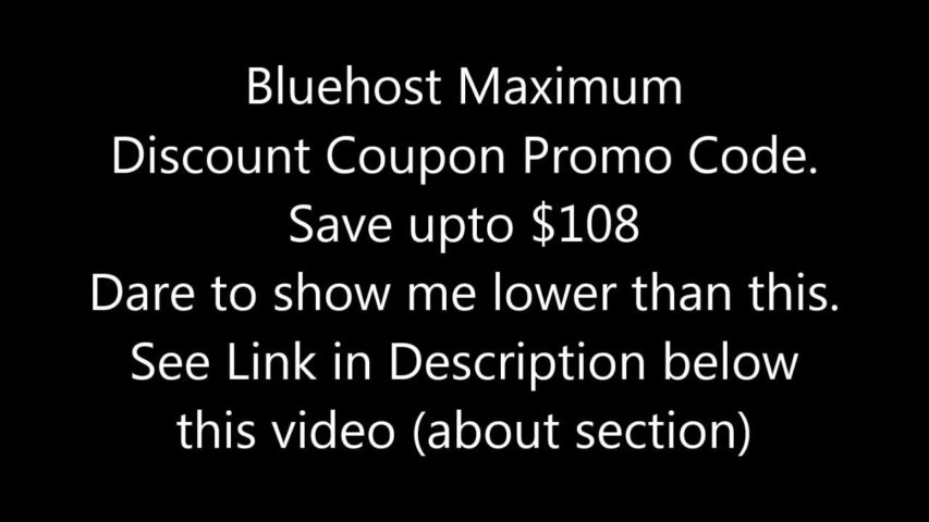 Bluehost Coupon Code Maximum Discount Promo Code 75% Off $3.95/yr + Free Domain