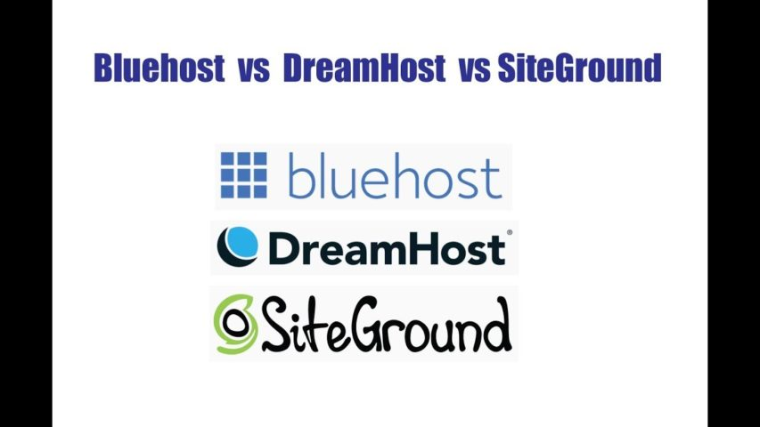 Bluehost vs DreamHost vs SiteGround