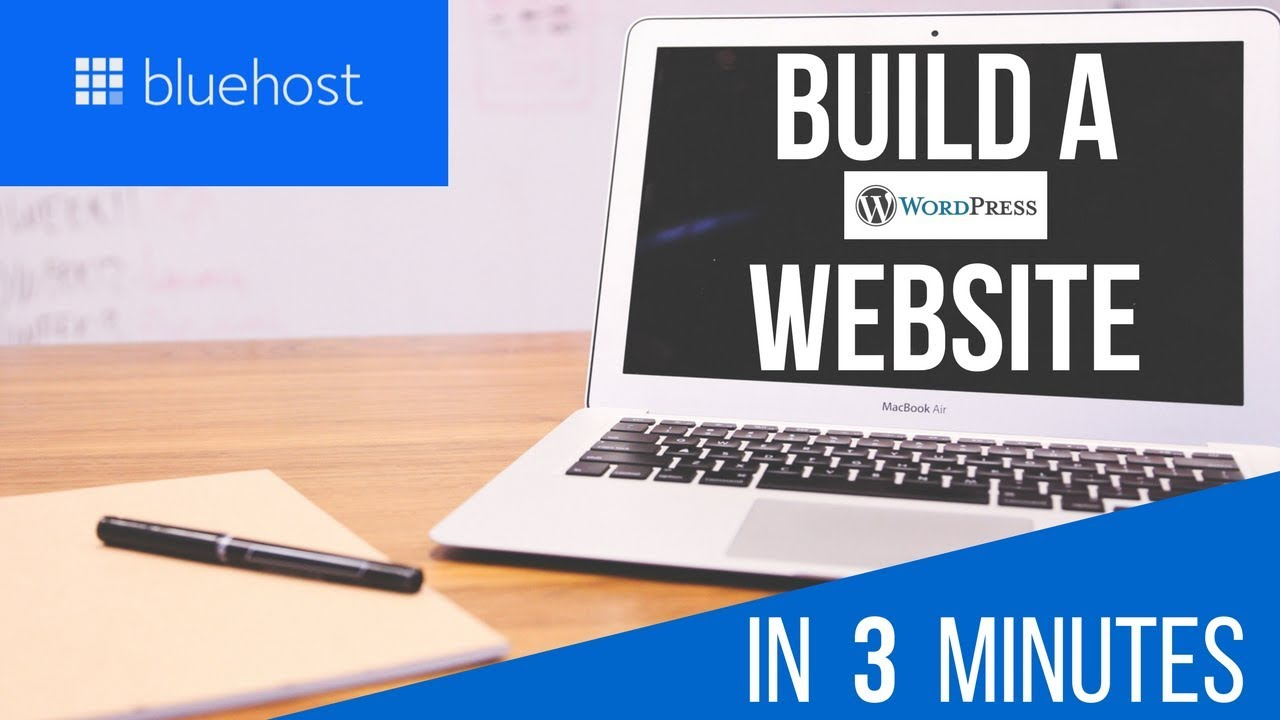 Build A WORDPRESS Website in 3 Minutes with BLUEHOST