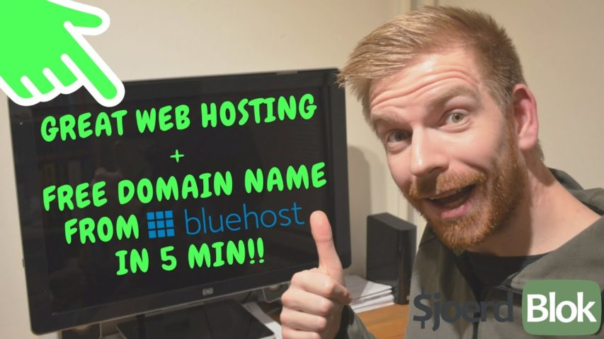 Get Great Bluehost Web Hosting & A Free Domain Name In 5 Minutes (Step By Step Affiliate Marketing)