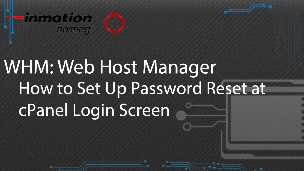 How to Set Up Password Reset at cPanel Login Screen