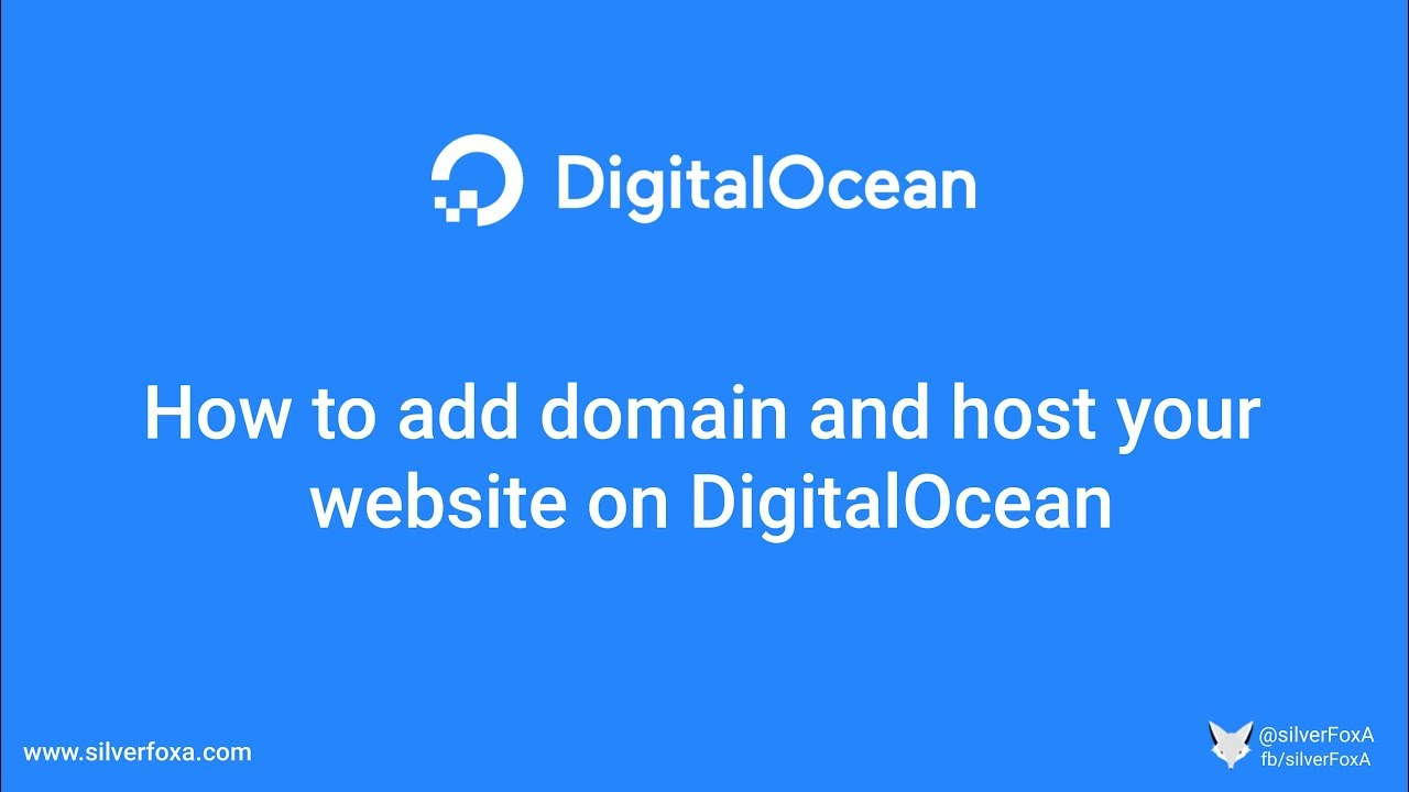 How to add domain and host your website on DigitalOcean