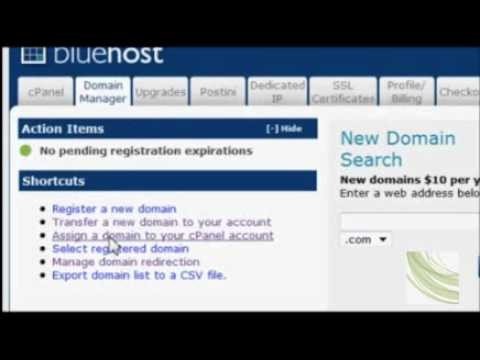 How to buy  a Domain through GoDaddy and host at BlueHost