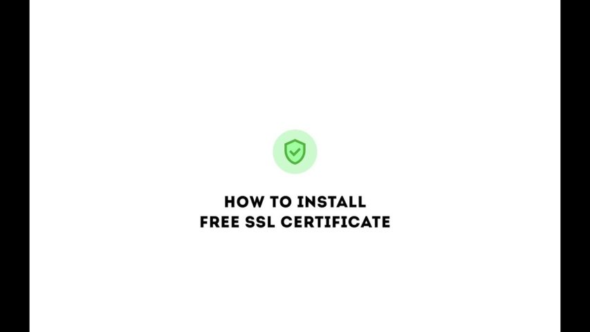 How to install FREE SSL certificate