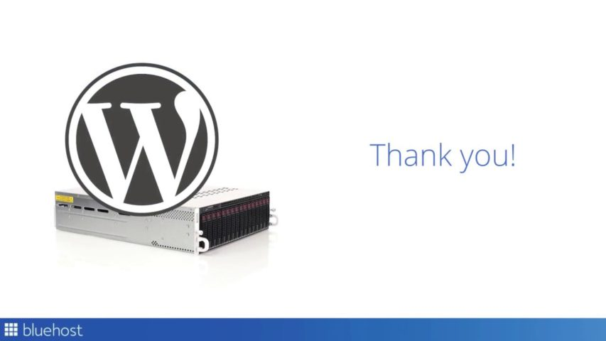 Review - hosting - Launching a WordPress Website with Bluehost