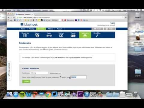 Setting up a Subdomain on Bluehost
