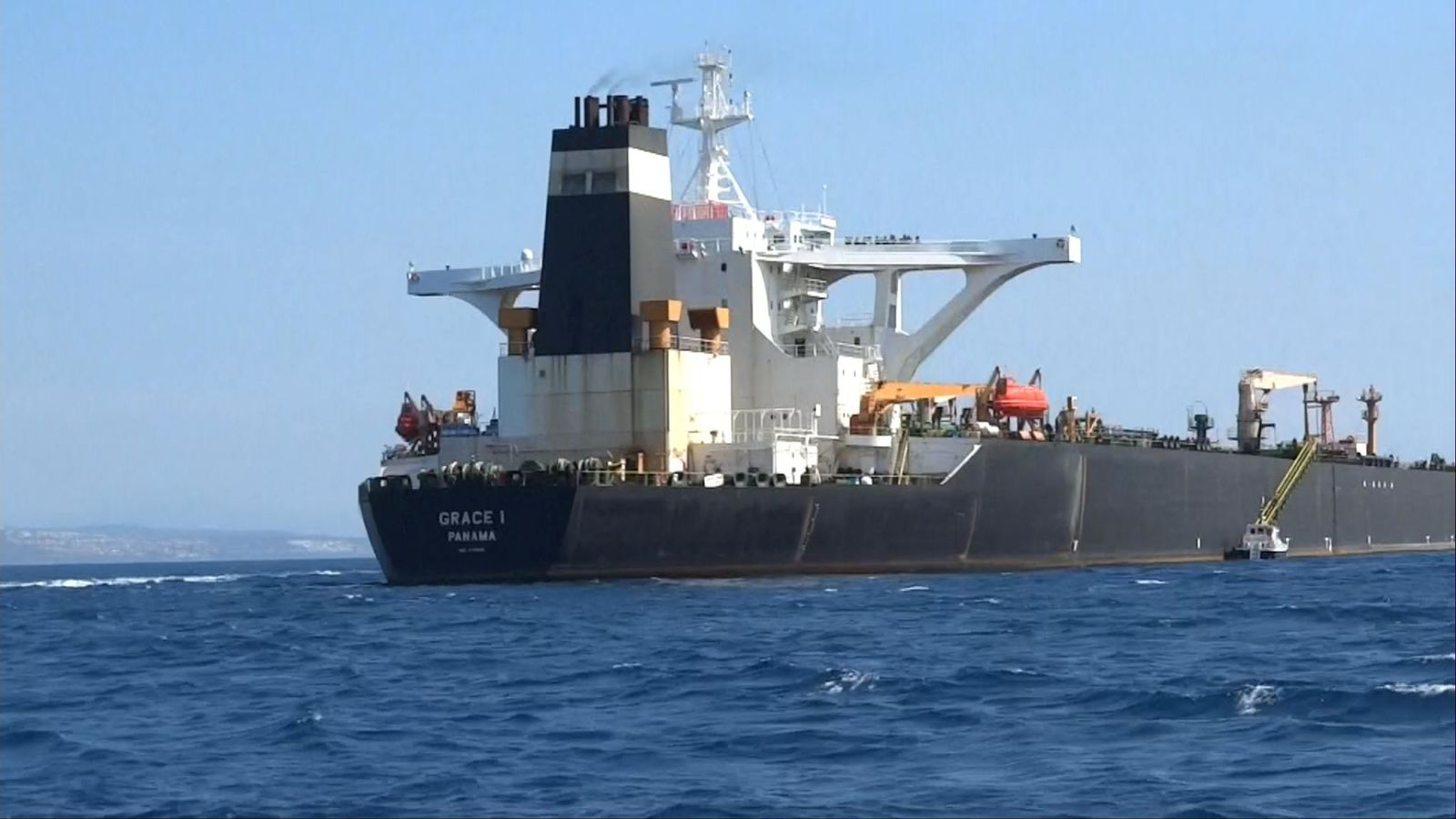 Royal Marines have boarded an oil tanker on its way to Syria thought to be breaching EU sanctions,