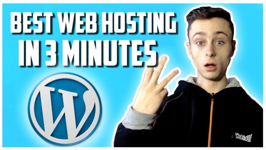 Best Web Hosting For Wordpress 2019 in 3 Minutes!