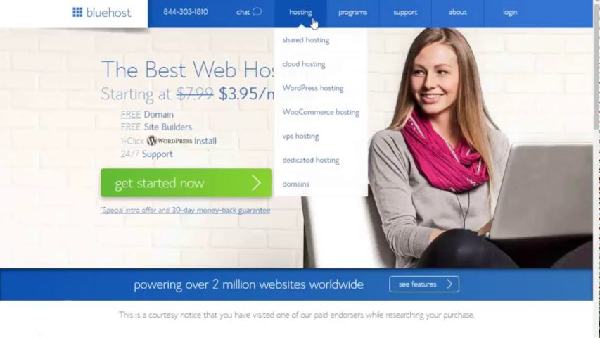 How To Get Your Website Domain With BlueHost - Cheap Web Hosting