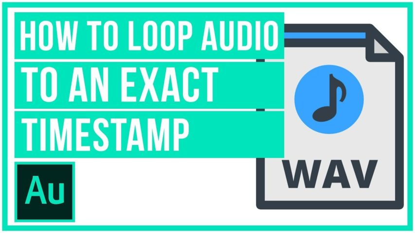 How To Loop An Audio Track To An EXACT TIMESTAMP - Audition Tutorial