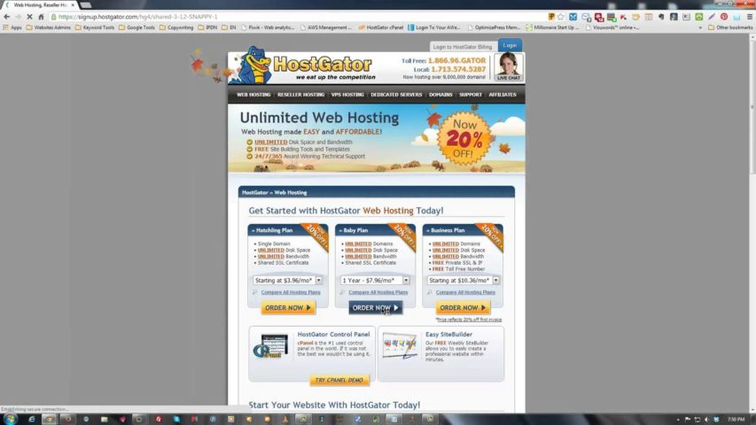 How to buy Web hosting online from godaddy | hostgator | bluehost