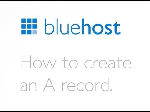 How to create an A record.