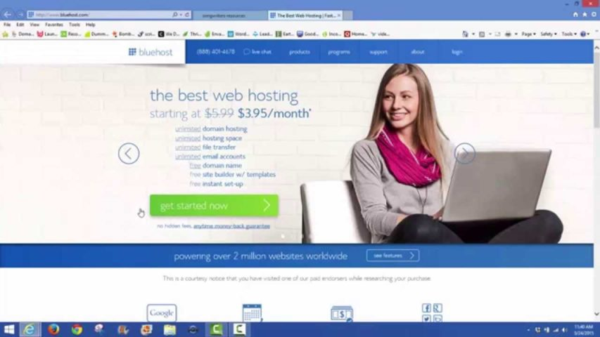 How to register a hosting account at Bluehost