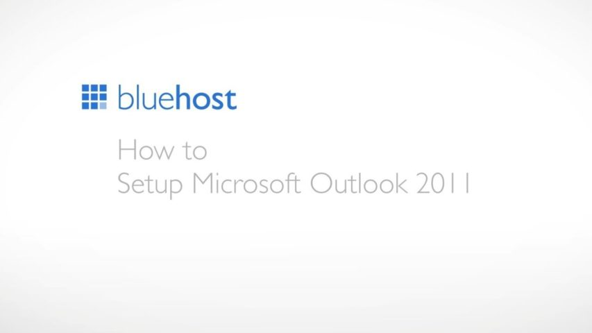 How to setup Microsoft Outlook 2011