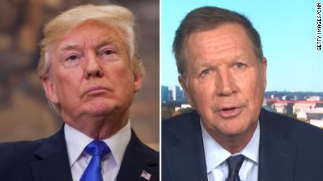 Former Republican Ohio Gov. John Kasich says he's now for impeaching Trump