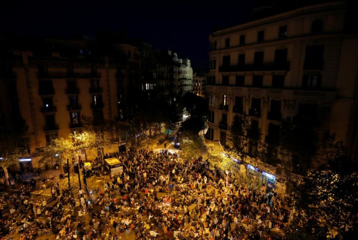 Clashes erupt in Barcelona as Catalan separatists protest sentences for leaders