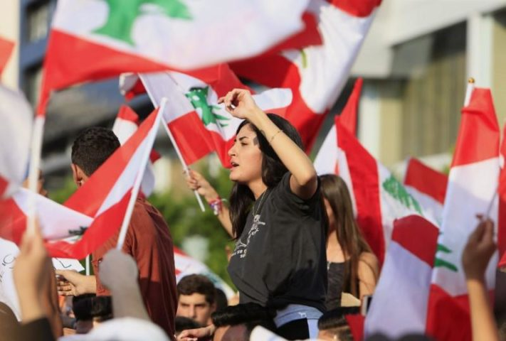Demonstrators fill Lebanon's streets in third day of fiery protests
