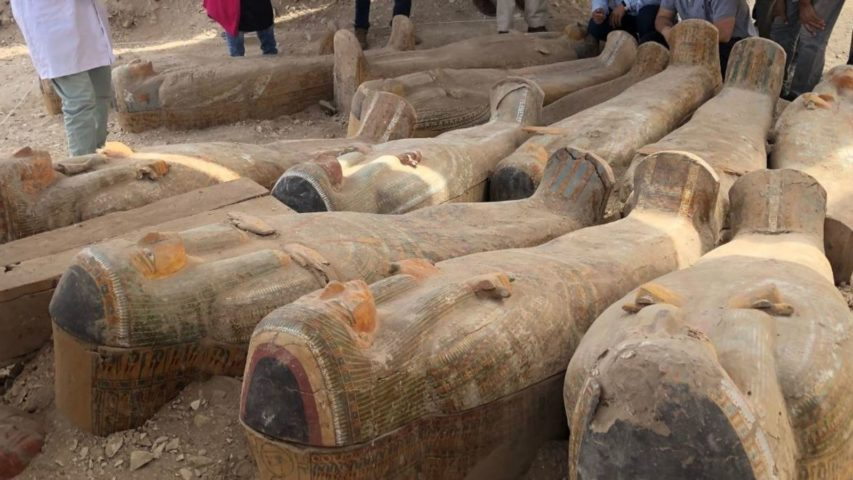Archaeologists found the coffins in the Asasif Necropolis