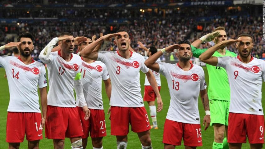 France: French politicians call for action after Turkish players repeat military salute during match