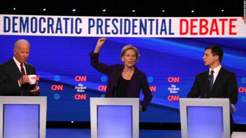 Ideological divide in Democratic primary exposed as moderates gang up on Elizabeth Warren