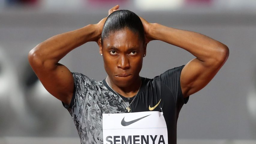DOHA, QATAR - MAY 03:  Caster Semenya of South Africa looks on prior to competing in the Women's 800 metres during the IAAF Diamond League event at the Khalifa International Stadium on May 03, 2019 in Doha, Qatar. (Photo by Francois Nel/Getty Images)