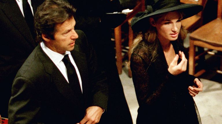 Imran Khan and his then wife Jemima Khan attended Diana's funeral in September 1997
