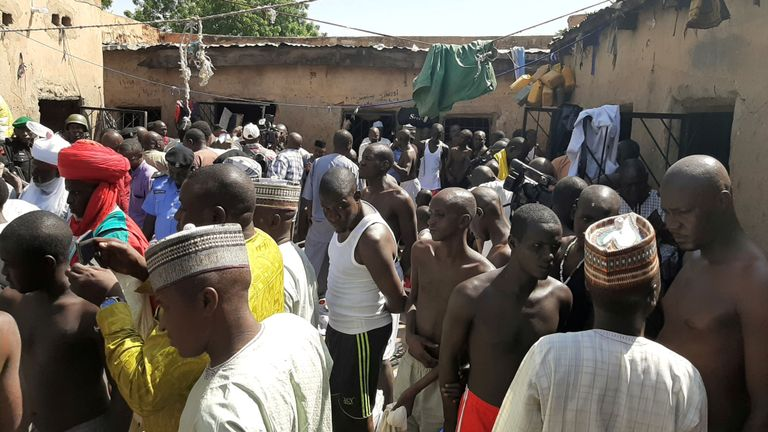 Police free hundreds of young men who had been mistreated at a Nigerian school